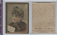 Victorian Card, 1890's, Brown Chemical, Girl Broken Window