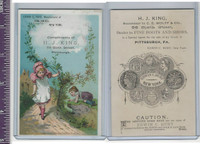 Victorian Card, 1890's, Burt, Edwin Shoes, Children Hiding