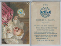 Victorian Card, 1890's, Clarks Thread, Child, A Favorite With The Ladies