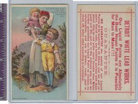Victorian Card, 1890's, Detroit Lead Works, Children With Mother