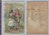 Victorian Card, 1890's, Dr. Kings, Children, Love's Labor Lost, Shakespeare