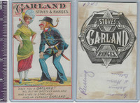 Victorian Card, 1890's, Garland Stives, Policeman Talking to Woman