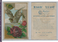 Victorian Card, 1890's, Gillett Yeast, Rose & Bird
