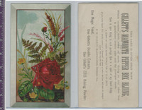 Victorian Card, 1890's, Gillett Yeast, Rose Bush & Flowers