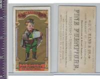 Victorian Card, 1890's, Hand Furniture, Child France