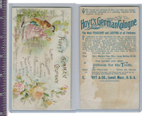 Victorian Card, 1890's, Hoyts German Cologne, Man & Woman Walking