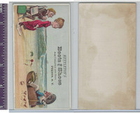 Victorian Card, 1890's, Nettletons Shoes, Seashore Scene