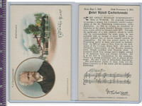 Victorian Card, 1890's, Presser, Birthplace of P.J. Tschaikiwsky
