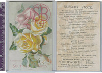 Victorian Card, 1890's, Southworth Bros. Nursery, Roses