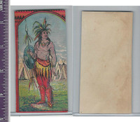 Victorian Card, 1890's, ZZ, Indain Warrior & Village