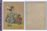Victorian Card, 1890's, ZZ, Roller Skating, Wrecked