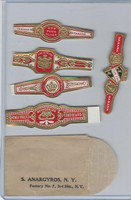 T350-1, 1910, Imitation Cigar Bands, Helmar, 5 Different & Glassine (10)