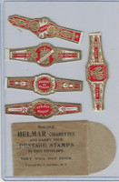 T350-1, 1910, Imitation Cigar Bands, Helmar, 5 Different & Glassine (12)