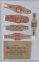 T350-1, 1910, Imitation Cigar Bands, Helmar, 5 Different & Glassine (13)