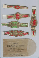 T350-1, 1910, Imitation Cigar Bands, Helmar, 5 Different & Glassine (20)