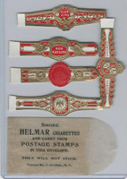 T350-1, 1910, Imitation Cigar Bands, Helmar, 5 Different & Glassine (22)