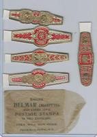 T350-1, 1910, Imitation Cigar Bands, Helmar, 5 Different & Glassine (24)