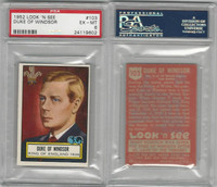1952 Topps, Look 'N See, #103 Duke of Windsor, King England, PSA 6 EXMT