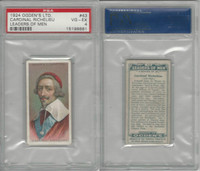 O2-156 Ogden, Leaders of Men, 1924, #43 Cardinal Richelieu, PSA 4 VGEX