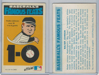 1983 Fleer Baseball Famous Feats, #8 Walter Johnson