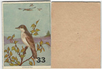 1940's Bird Lotto Game Cards, #33 Kingbird