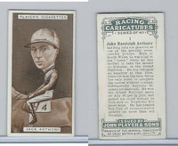 P72-127 Players, Racing Caricatures, 1925, Horse, #1 Jack Anthony