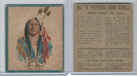 V254 Canadian CG, Papoose Gum Indians, 1934, #11 Crows Breast