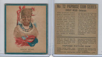 V254 Canadian CG, Papoose Gum Indians, 1934, #12 Great Bear, Delaware