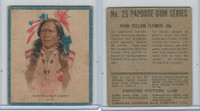 V254 Canadian CG, Papoose Gum Indians, 1934, #25 John Yellow Flower