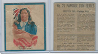 V254 Canadian CG, Papoose Gum Indians, 1934, #27 Spotted Tail, Sioux