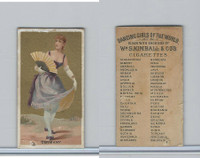 N185 Kimball, Dancing Girls of the World, 1889, Germany
