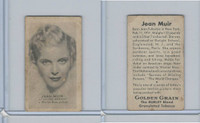 T84 Golden Grain Tobacco, Motion Picture Stars, 1934, Jean Muir