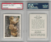 F55 Frostick, Animal Cards, 1933, #13 Barbary Lion Cubs, PSA 5 EX