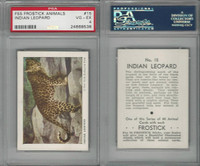 F55 Frostick, Animal Cards, 1933, #15 Indian Leopard, PSA 4 VGEX