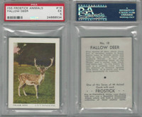 F55 Frostick, Animal Cards, 1933, #18 Fallow Deer, PSA 5 EX