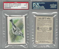 J9-5, Church & Dwight, Useful Birds 9th Ser., 1925, #6 Warbler, PSA 9 Mint