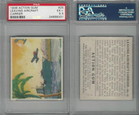 R1 Goudey, Action Gum, 1938, #25 Leaving Aircraft Carrier, PSA 5.5 EX+