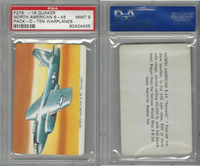 F279-18 Quaker, Pack-O-Ten Warplanes, 1957, NA B45 Tornado, PSA 9 Mint
