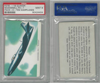F279-18 Quaker, Pack-O-Ten Warplanes, 1957, McDonnell FH1, PSA 9 Mint