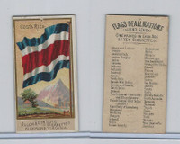 N10 Allen & Ginter, Flags of all Nations, 1890, Costa Rica