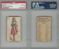 N182 Kimball Cigarettes, Ballet Queens, 1889, Bella, United States, PSA 2