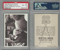 1964 Topps, Beatles Movie, #1 There Were Always Spectators, PSA 8 NMMT