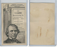 H602 US Clothing, Presidents, 1890's, Andrew Johnson