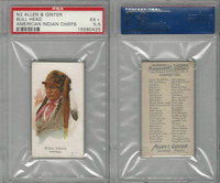 N2 Allen & Ginter, Celebrated American Indian Chiefs, 1888, Bull Head PSA 5.5 EX
