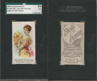 N7 Allen & Ginter, Fans of the Period, 1889, #8 No Hat , Yellow, SGC 84 NM