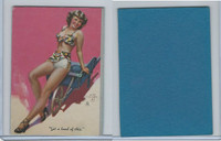 W424 Mutoscope Blotter Cut Pin Up Girls, 1940's, Get A Load Of This