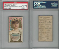 N218 Kinney, Famous Gems of the World, 1889, Diamond Bombay, PSA 4