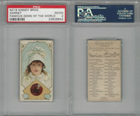 N218 Kinney, Famous Gems of the World, 1889, Garnet America, PSA 2