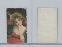 C243 Canada Tobacco Card, Pretty Girls, 1909, Red Dress