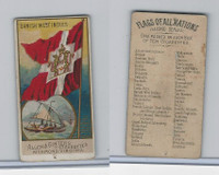 N10 Allen & Ginter, Flags of all Nations, 1890, Danish West Indies